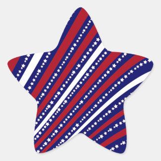 Patriotic Stars Stripes Freedom Flag 4th of July Star Sticker