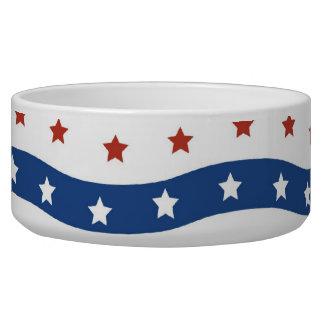 Patriotic Stars Stripes Freedom Flag Fourth of Jul Bowl