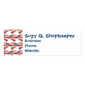 Patriotic Stars Stripes Freedom Flag Hearts 4th of Business Card Template