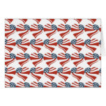 Patriotic Stars Stripes Freedom Flag Hearts 4th of Cards