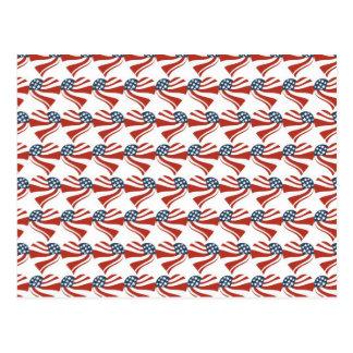 Patriotic Stars Stripes Freedom Flag Hearts 4th of Postcard