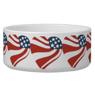 Patriotic Stars Stripes Freedom Flag Hearts Bowl