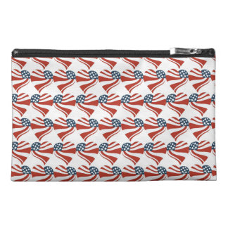 Patriotic Stars Stripes Freedom Flag Hearts Travel Accessories Bags