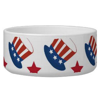 Patriotic Stars Stripes Freedom USA Hat Design Bowl
