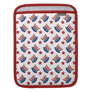Patriotic Stars Stripes Freedom USA Hat Design Sleeve For iPads