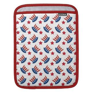 Patriotic Stars Stripes Freedom USA Hat Design Sleeve For iPads
