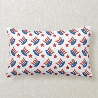 Patriotic Stars Stripes Freedom USA Hat Design Lumbar Pillow