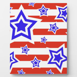 Patriotic Stars & Stripes Independence Day Plaque