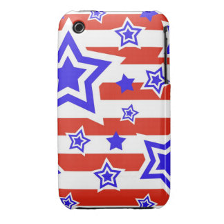 Patriotic Stars & Stripes iPhone 3 Case