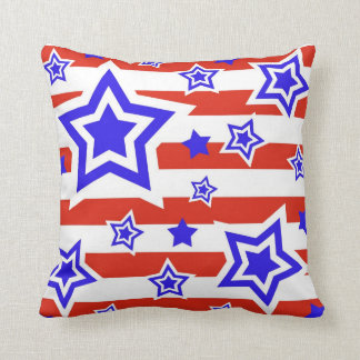 Patriotic Stars & Stripes Throw Pillow