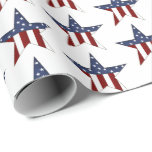 Patriotic stars tiled party wrap wrapping paper