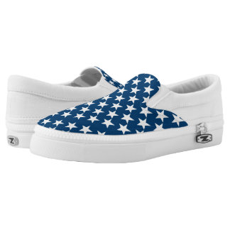 Patriotic Stars ZipZ Shoes Printed Shoes