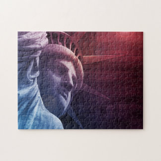 Patriotic Statue of Liberty Jigsaw Puzzle