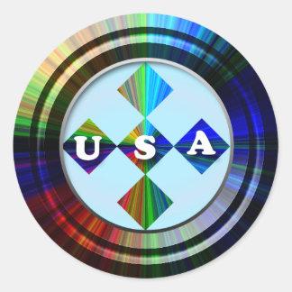 Patriotic Round Stickers