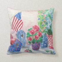 Patriotic Still Life Throw Pillow