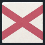 "Patriotic stone coaster with Flag of Alabama<br><div class=""desc"">Elegant,  patriotic stone coaster with Flag of Alabama State,  United States of America. This product its customizable.</div>"