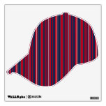 Patriotic Stripe Sports Wall Decals