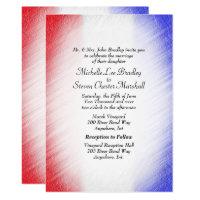 Patriotic Stripe Wedding Invitations