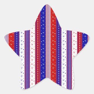Patriotic Stripes Star Sticker