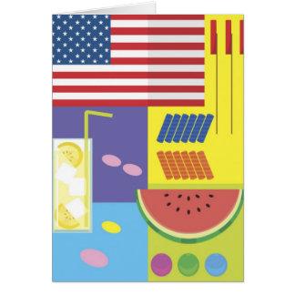 Patriotic Summer Picnic Card - customize!