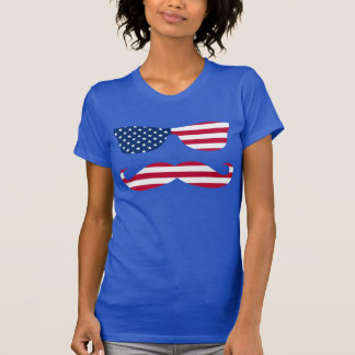 Patriotic Sun Glasses and Mustache T Shirts
