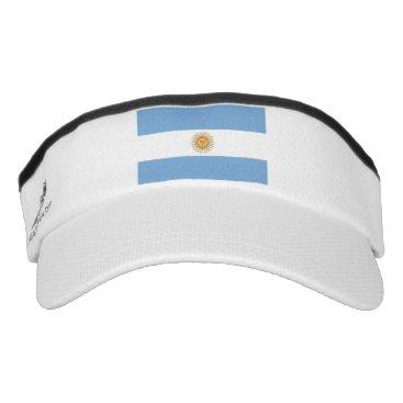Patriotic Sun Visor with flag of Argentina