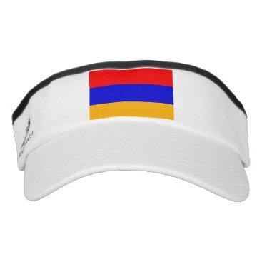 Patriotic Sun Visor with flag of Armenia