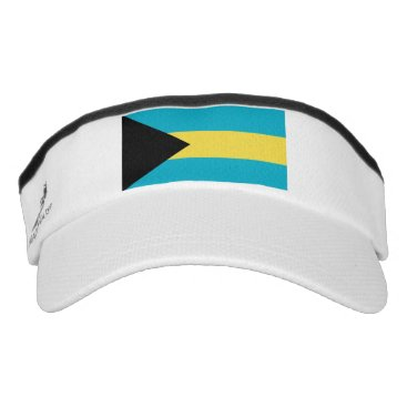 Patriotic Sun Visor with flag of Bahamas