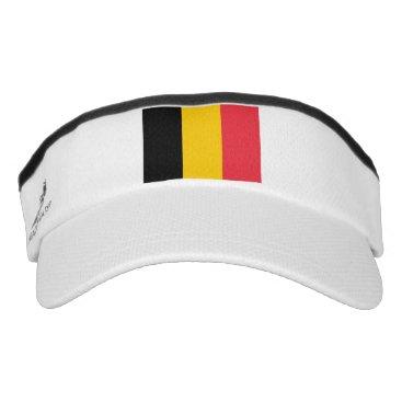 Patriotic Sun Visor with flag of Belgium