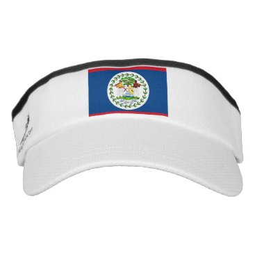 Patriotic Sun Visor with flag of Belize