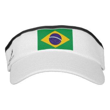 Patriotic Sun Visor with flag of Brazil