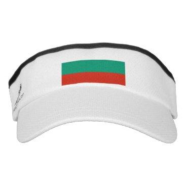 Patriotic Sun Visor with flag of Bulgaria