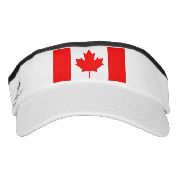 Patriotic Sun Visor with flag of Canada