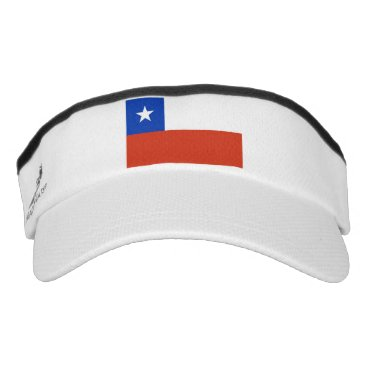 Patriotic Sun Visor with flag of Chile