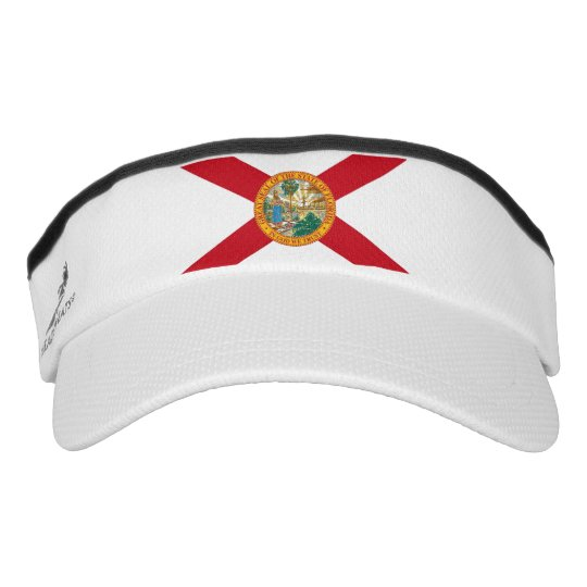 b3a2ef632ba Patriotic Sun Visor with flag of Florida