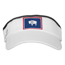 Patriotic Sun Visor with flag of Wyoming, USA