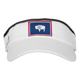 02285956587 Patriotic Sun Visor with flag of Wyoming