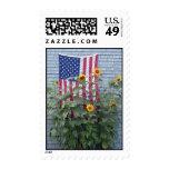 Patriotic Sunflowers Postage