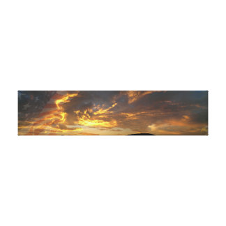 Patriotic Sunset Canvas Print