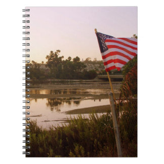 Patriotic Sunset Notebook