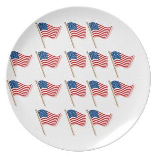 Patriotic Supper Time Melamine Plate