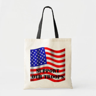 Patriotic Support Our Troops Tote Bag