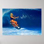 Patriotic Surfer Girl 2 Poster