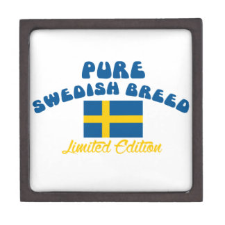 Patriotic Swedish designs Jewelry Box