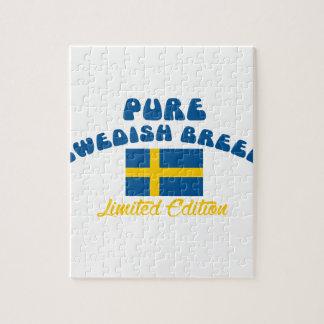 Patriotic Swedish designs Jigsaw Puzzle