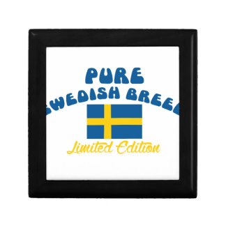 Patriotic Swedish designs Keepsake Box