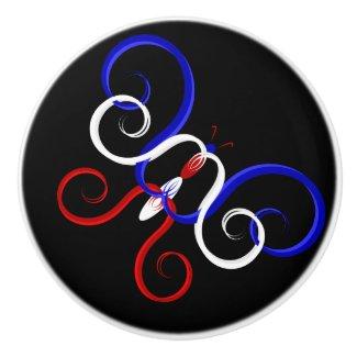 Patriotic Swirl Butterfly