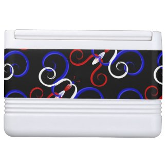 Patriotic Swirl Butterfly Cooler