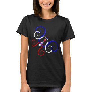 Patriotic Swirl Butterfly T-Shirt
