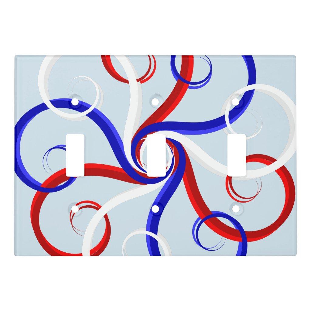 Patriotic Swirl Flower